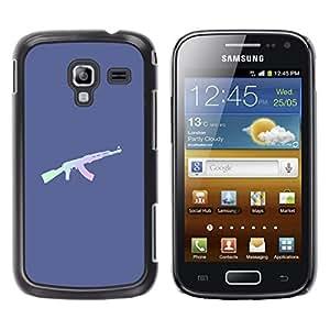 LECELL--Funda protectora / Cubierta / Piel For Samsung Galaxy Ace 2 I8160 Ace II X S7560M -- Rifle Ak Gun Solider Military --