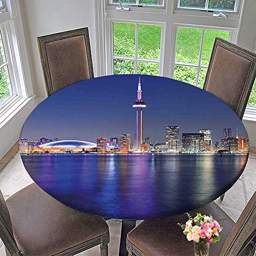 Pearl Toronto Blue (Mikihome Round Tablecloths Blue Canada Toronto Over The Panorama Urban or Everyday Dinner, Parties 59