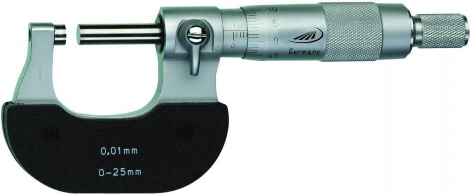 0.01mm DIN 863-1 HELIOS-PREISSER 0800501 B/ügelmessschraube 0-25mm Ablesung