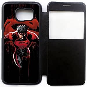 Wunatin Ultra Thin Windows View Flip Leather Case Cover For Samsung Galaxy S6,Superheroes-Superboy Samsung Galaxy S6 Cell Phone Case,BA-7751882