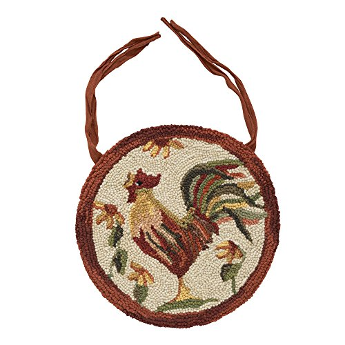Park Designs Rooster Hooked Chairpad (Rooster Chairs)
