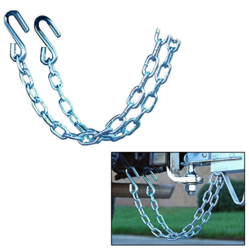 Safety Chain Set - CE Smith Trailer 16671A Class III Rating Safety Chain Set, 5000 lb- Replacement Parts and Accessories for Your Ski Boat, Fishing Boat or Sailboat Trailer