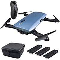 Teeggi JJRC H47 RC Drone with Camera 720P HD Live Video Wifi FPV 2.4GHz 4CH 6-Axis Gyro Selfie Quadcopter Altitude Hold Headless Mode G-sensor Control, Bonus Battery with Charger, Portable Case