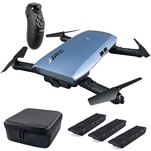 JJRC H47 RC Drone with Camera 720P HD Live Video WiFi FPV 2.4GHz 4CH 6-Axis Gyro Selfie Quadcopter Altitude Hold Headless Mode G-Sensor Control, Bonus Battery with Charger, Portable Case