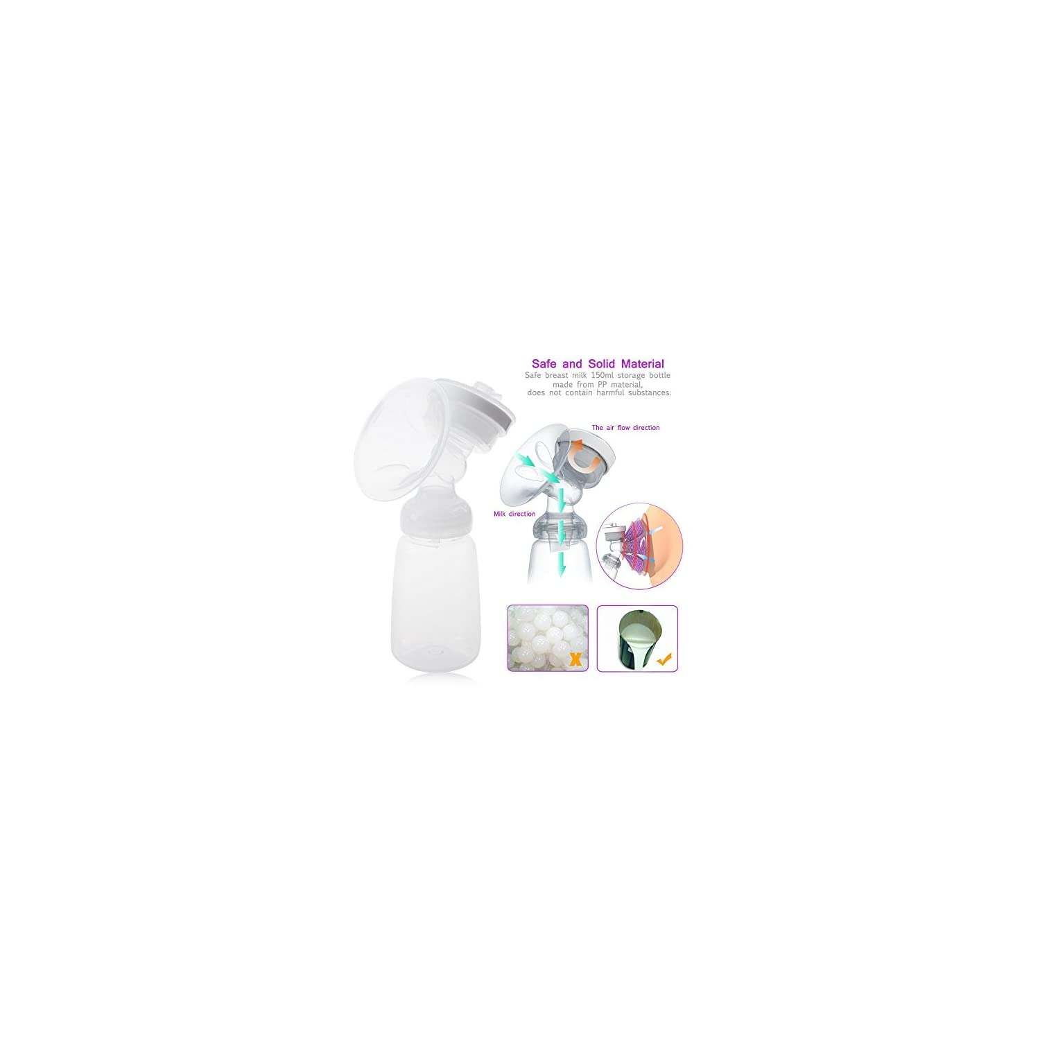 KidsTime Electric Breast Pump Double Breast Pump hands-Free Breastpump(WITH 2 x Cold Heat Pad AND 2 x Nipple)
