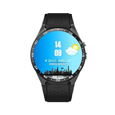 Auntwhale Reloj Inteligente para niños 1.39 Pulgadas Pantalla Redonda Wi-Fi Cálculo de Distancia Monitor