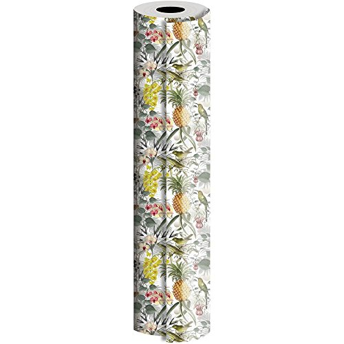 JAM Paper® Industrial Size Bulk Wrapping Paper Rolls - Rainforest Design - 1/4 Ream (520 Sq Ft) - Sold Individually