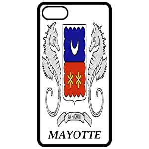 Mayotte - Coat Of Arms Flag Emblem Black Apple Iphone 4 - Iphone 4s Cell Phone Case - Cover