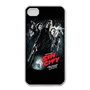 Unique Design Cases iPhone 4,4S Cell Phone Case White sin city movie Osdla Printed Cover Protector