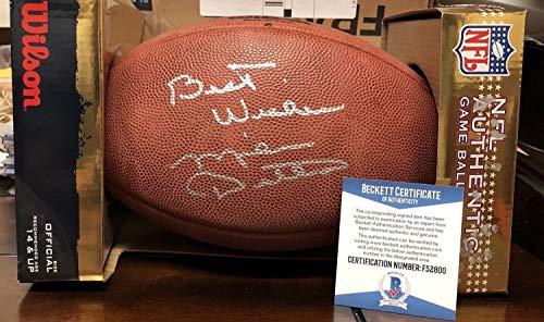 Official Duke Football Autographed Nfl - Mike Ditka Chicago Bears Hof Autographed Signed Official NFL Duke Football Beckett Coa
