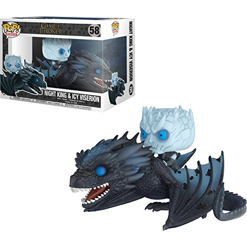 Night King w/ Icy Viserion: POP! Rides x Game of Thrones Vinyl Figure + 1 Official Game of Thrones Trading Card Bundle [#058]