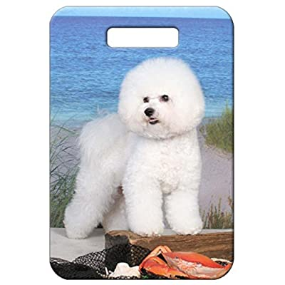 low-cost Canine Designs Set of 2 Bichon Frise Luggage Tags
