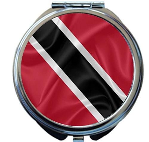 Rikki Knight Trinidad and Tobago Flag Design Round Compact Mirror by Rikki Knight