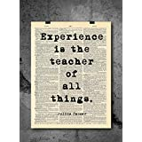 Julius Caesar - Experience Is The Teacher Quote - Dictionary Art Print - Vintage Dictionary Print 8x10 inch Home Vintage Art Wall Art for Home Wall For Living Room Bedroom Office Ready-to-Frame
