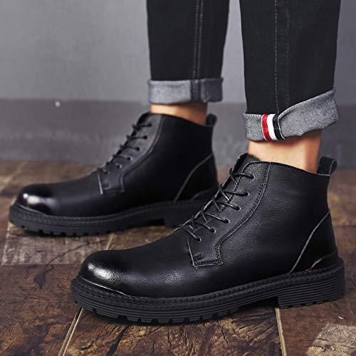 Shoes Shoes Retro Boots dei dei dei Hiking Stivaletti Pelle Uomini Stivali High Work Top Trekking Stivali Scarpe Black Martin Up Outdoor Desert Sicurezza Lace wS88Cq
