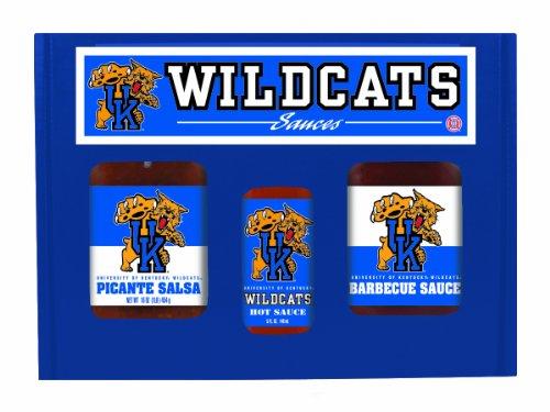 (Kentucky Wildcats NCAA Tailgate Kit (5oz Hot Sauce, 16oz BBQ Sauce, 16oz Picante Salsa))