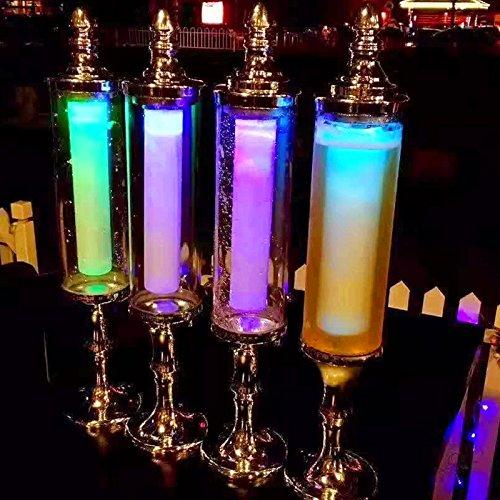 7 colores luz tubo de hielo cerveza jugo dispensador de bebidas torre 3 L dorado: Amazon.es: Hogar