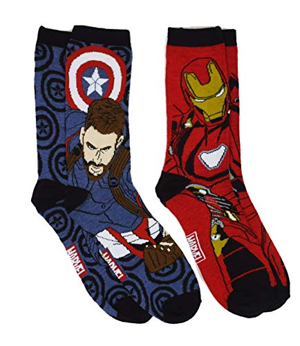 Marvel Iron And Captain America Men's Casual Crew