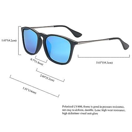 Aroncent Gafas de Sol Polarizadas Azul Coloridas para ...