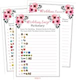 Bridal Shower Games Emoji Pictionary | Pack of 50 | Emoji Bachelorette Game | Coed Cards Game For Bridal Shower, Wedding Shower, Engagement or Bachelorette Party For Men and Women Couples