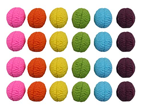 Curious Minds Busy Bags Bulk - 24 Brain Erasers - Teacher Brain Break - Good Idea Smarty Pants - Super Student Employee Classroom Reward - Neurosurgeon Doctor Office Gift]()