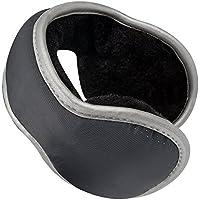 Hootech Unisex Knit Winter Earmuffs - Foldable Fleece Lined Winter Ear Warmers - Winter Earmuffs with Adjustable Wrap for Men & Women