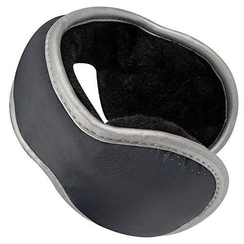 Vanzon Unisex Knit Winter EarMuffs - Foldable Fleece Lined Winter Ear Warmers - Winter EarMuffs with Adjustable Wrap for Men & Women