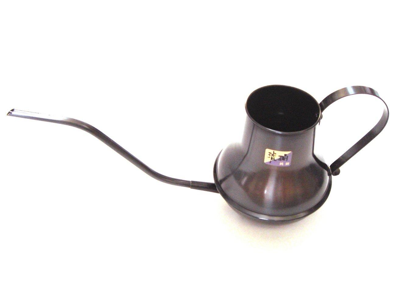 高級 手作り逸品 純銅製 水差し 琥珀色 約0.7L  鶴首(水差し用) 日本製 B016UECBE2