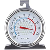 Taylor Freezer/Fridge Temperature Thermometer, Stainless Steel, 4.5 x 6.5 x 8 cm
