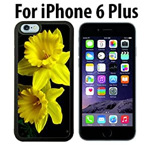 Yellow Daffodils Custom Case/ Cover/Skin *NEW* Case for Apple iPhone 6 PLUS - Black - Rubber Case (Ships from CA) Custom Protective Case , Design Case-ATT Verizon T-mobile Sprint ,Friendly Packaging - Slim Case