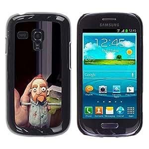LASTONE PHONE CASE / Carcasa Funda Prima Delgada SLIM Casa Carcasa Funda Case Bandera Cover Armor Shell para Samsung Galaxy S3 MINI NOT REGULAR! I8190 I8190N / Up Comedian Beard Ginger