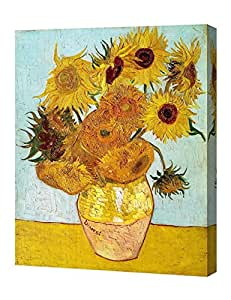 """US-DEALS - Sunflowers, By Vincent Van Gogh. The Classic Arts Reproduction. Art Giclee Print On Canvas, Stretched Canvas Gallery Wrapped. 16 x20"""""""