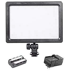 Bestlight On-Camera Video Lights Kit,Includes:BLPad-22 112-LED LED Video Light+2200mAh Battery Replacement for NP-F550/570+Battery Charger for Canon Nikon Sony Pentax Olympus DSLR Cameras