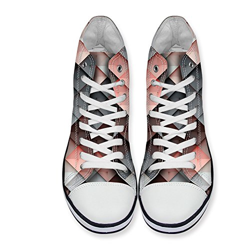 Shoes Lace up Spring Walking Flats High Summer LedBack Design 6 Women Top Seasonal Lattice Canvas Sneakers EHwEvaq4A