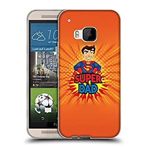 Super Galaxy Coque de Protection TPU Silicone Case pour // V00000704 Papá estupendo Superman // HTC One M9