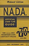 NADA Used Car Guide - Midwest Edition - December, 2003