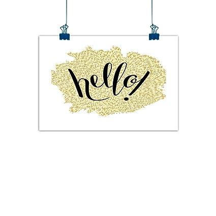 Amazon.com: Póster de pintura para pared, diseño de Hello ...