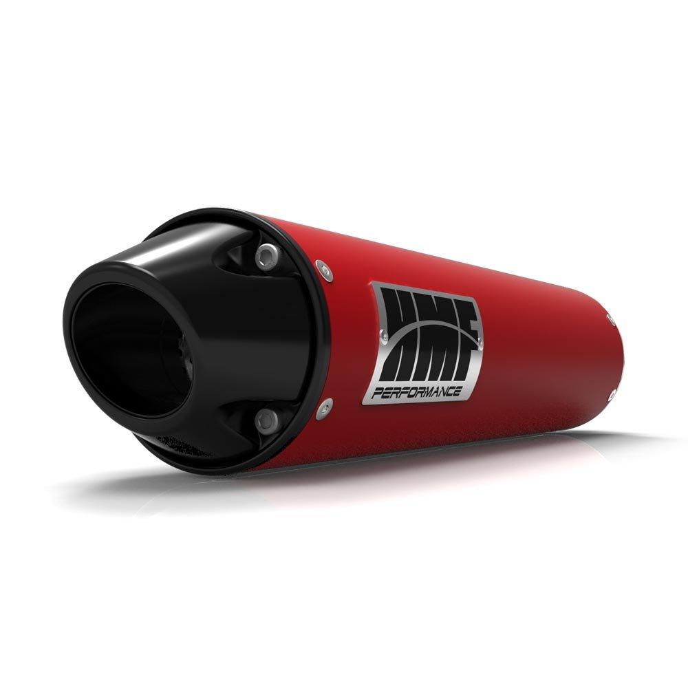 Filtro de aire de espuma de uni & HMF rojo performance-series Slip On euro-black de escape para Suzuki Vinson 2002 - 2007: Amazon.es: Coche y moto