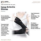 Copper Compression Long Arthritis Gloves