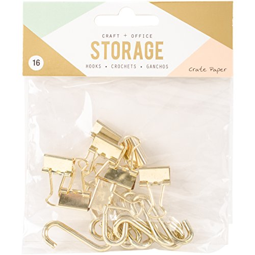 American Crafts Crate Paper Wire System Storage Hooks 16 Piece