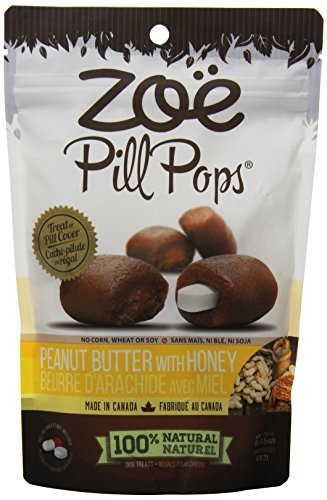Zoe Pill Pops for Pets, Healthy All Natural Dog Treats for Giving Medication, Peanut Butter with Honey