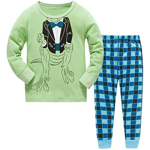 Hugbug Boys Pajamas with Dinosaurs for Toddler and Kid Boys 7T -