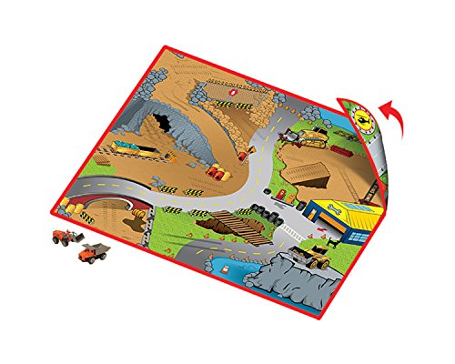 Full Throttle Construction Zone 2-Sided Playmat w/ 1 Car