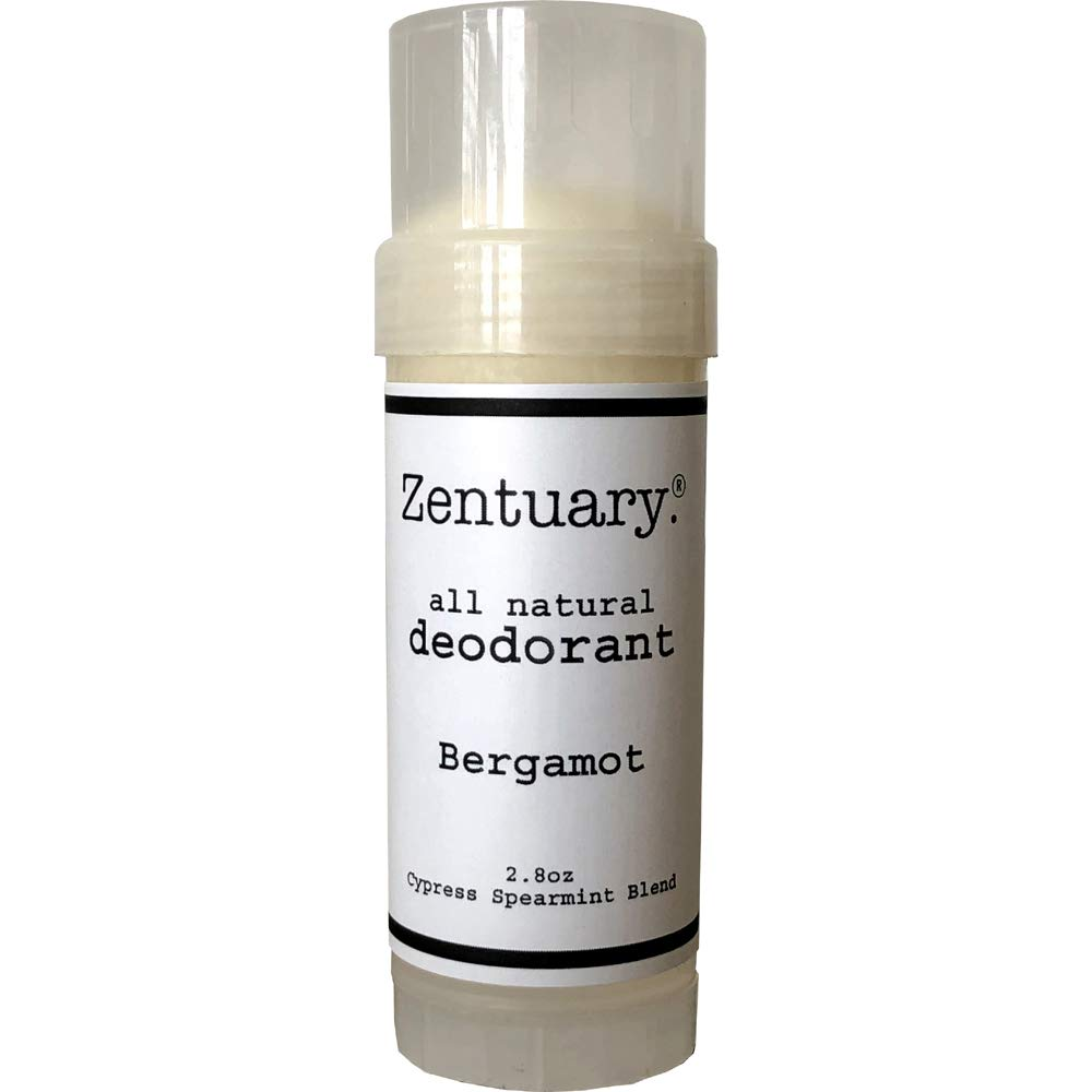 Zentuary (Bergamot) 100% All Natural Aluminum Free Deodorant for Women, Men and Kids of All Ages – Paraben, Phthalate, Gluten & Cruelty Free - Non-GMO - BPA Free 2.8 Oz Stick (Bergamot)