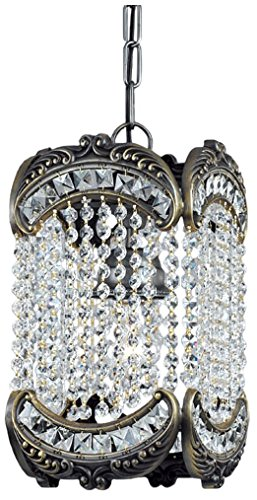 Classic Lighting 69761 RB CP Emily, Crystal, Light Pendant, Roman Bronze ()