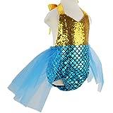 Wennikids Baby Girls Sequins Mermaid Bodysuit