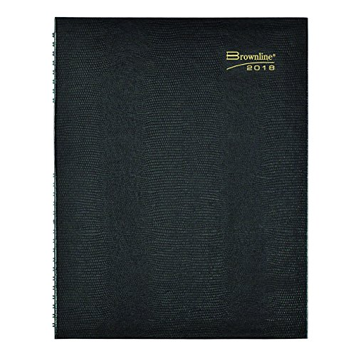 Brownline 2018 CoilPro Weekly Appointment Book, Black Hard Cover, 11 x 8.50 inches (CB950C.BLK-18)