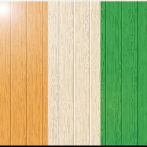 Rikki Knight 6 x 6 Costa Rica Flag on Distressed Wood Design Ceramic Art Tile