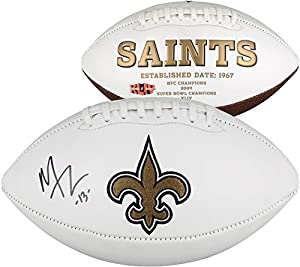 Michael Thomas New Orleans Saints Autographed White Panel Football - Fanatics Authentic Certified - Autographed Footballs