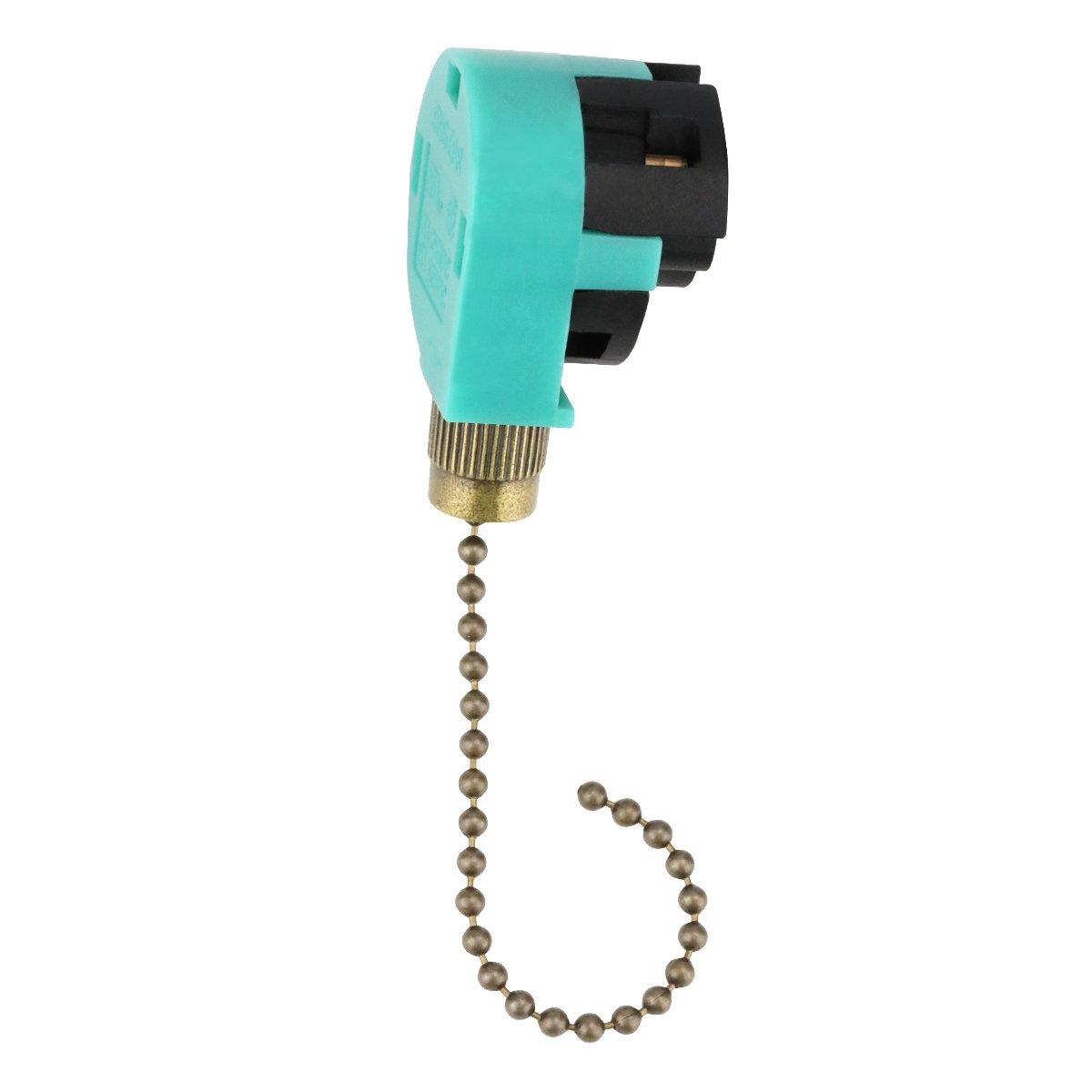 Hunter Ceiling Fan Pull Switch ZE-268s6 Fan Switch, Ceiling Fan Switch, Switch Ceiling Fans Wall Lamps Cabinet Light (Bronze Pull Chain)